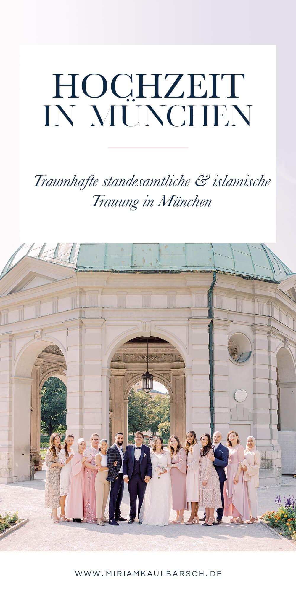 Traumhafte standesamtliche und islamische Hochzeit in München
