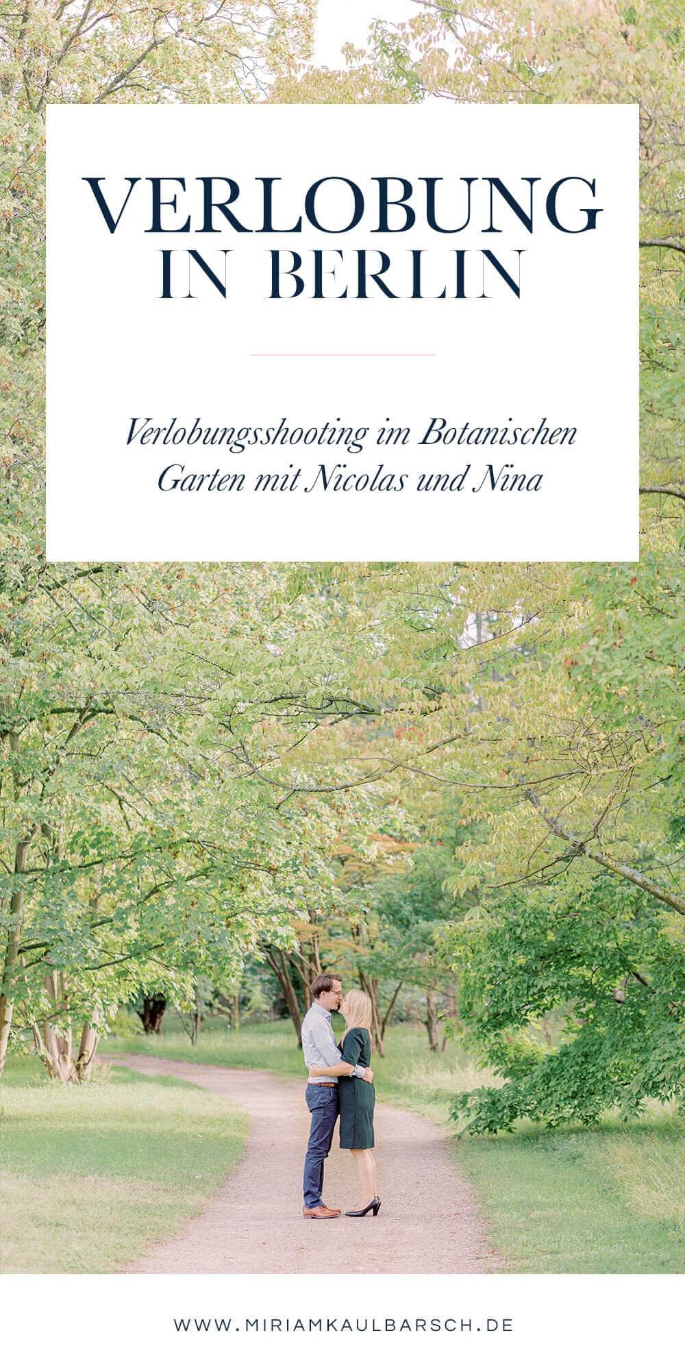 Verlobung in Berlin - Romantische Verlobungsfotos im Berliner Süden mit Nina und Nicolas