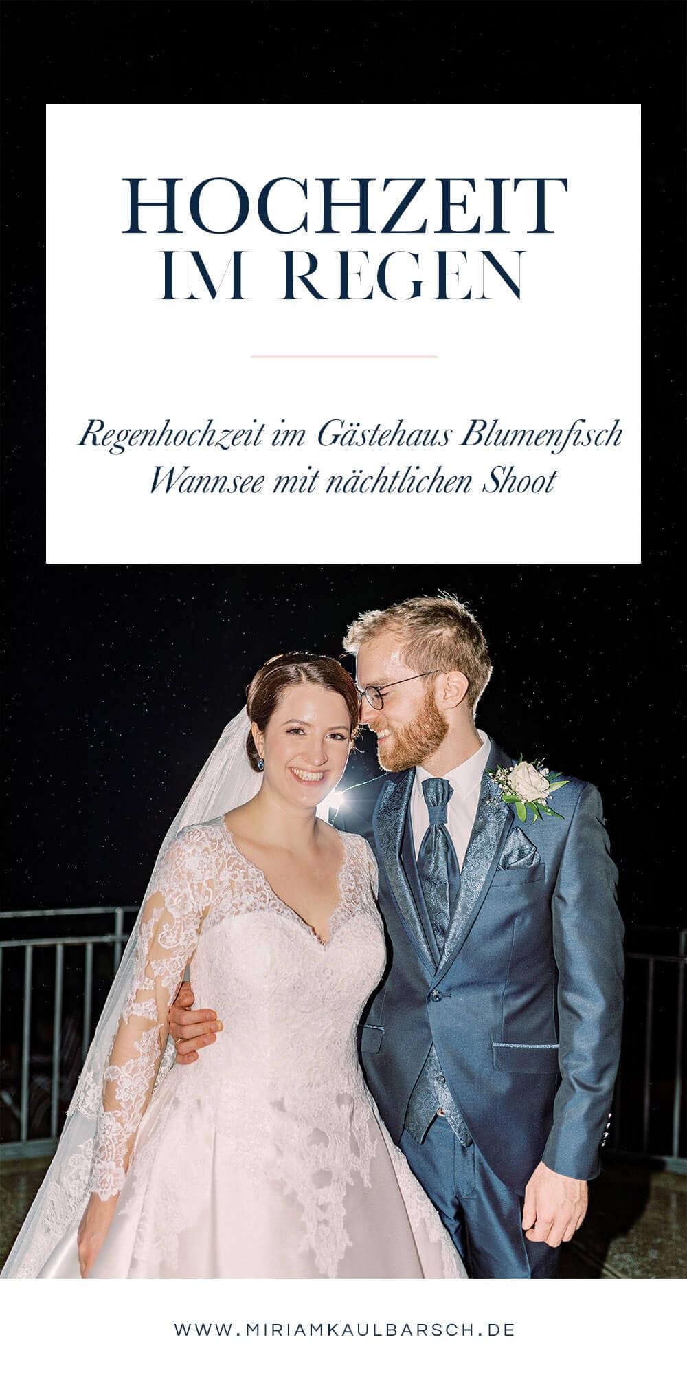 Hochzeit im Regen im Gästehaus Blumenfisch am Großen Wannsee Berlin