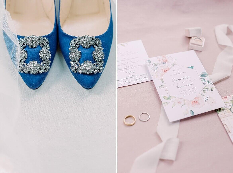 Mahnolo Blahnik und Hochzeitseinladung
