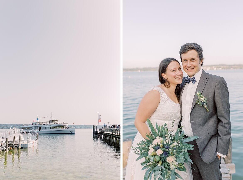 Utting am Amersee und Brautpaar