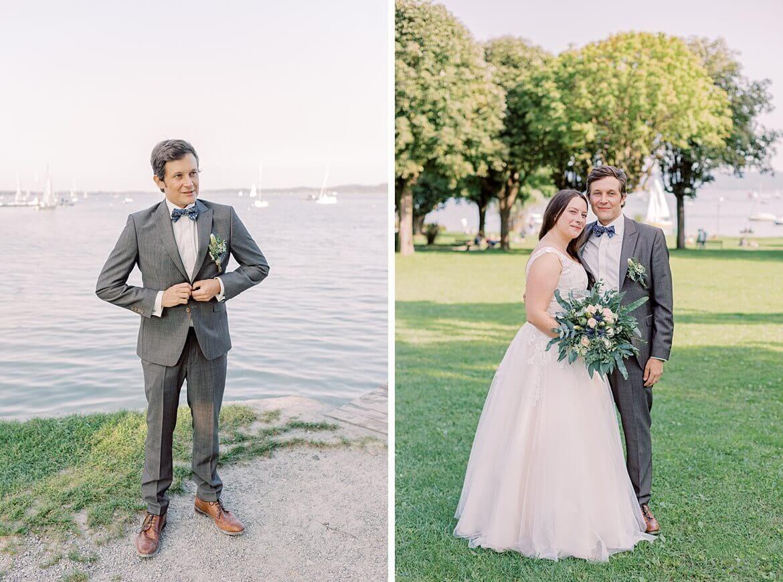 Bräutigam und Brautpaar in Utting am Ammersee