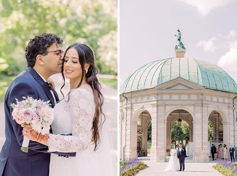 Brautpaar im Hofgarten München