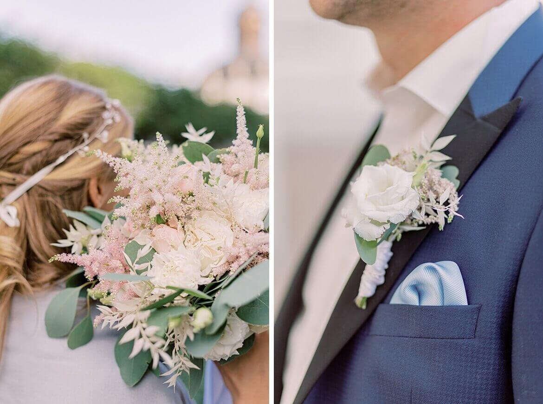 Brautstrauß und Einstecktuch