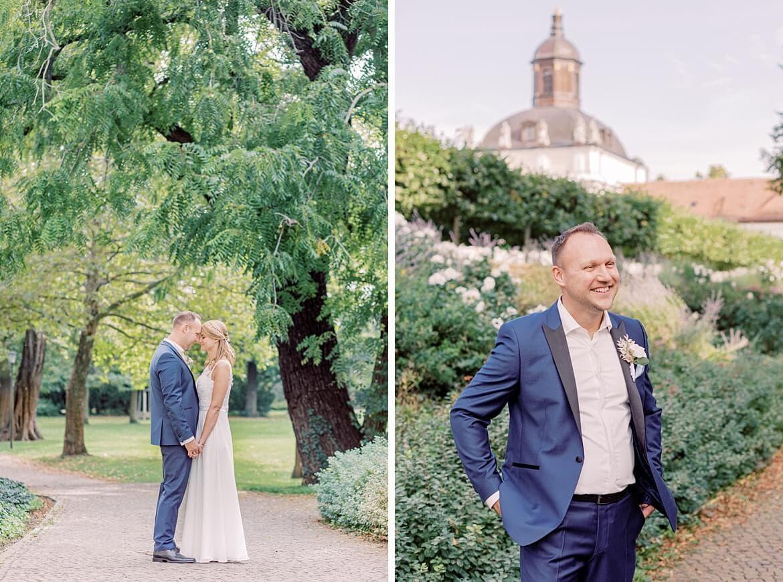 Brautpaar im Park Schloss Köpenick