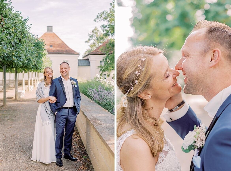 Brautpaar im Schloss Park Köpenick