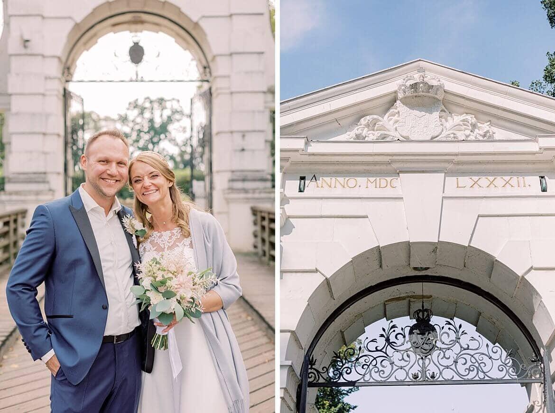Brautpaar heiratet beim Schloss Köpenick