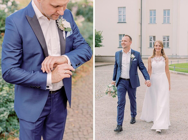 Brautpaar vor Schloss Köpenick