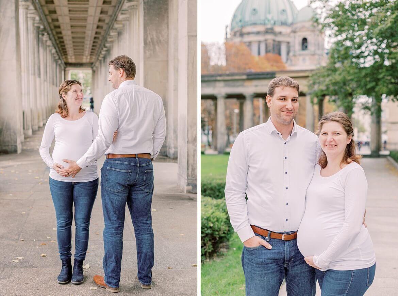 Paar mit Babybauch in Berlin
