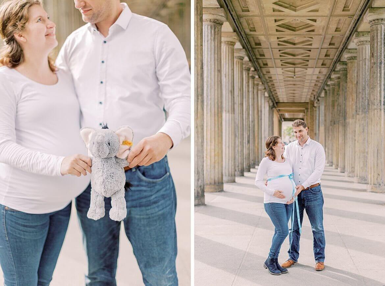 Paar mit Babybauch