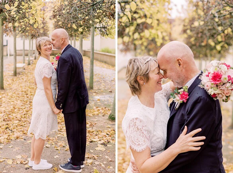 Brautpaar im Park vom Schloss Köpenick
