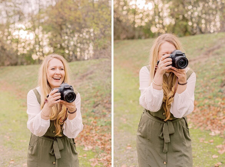 Jennifer Thomas Fotografie - Frau mit Kamera