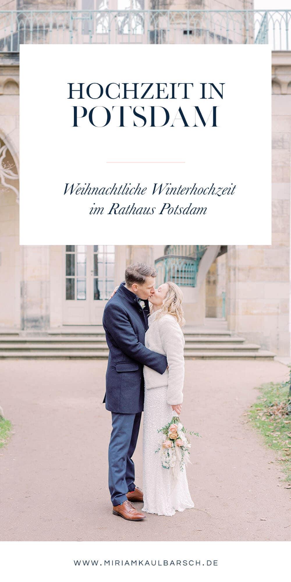 Weihnachtliche Winter Hochzeit in Potsdam