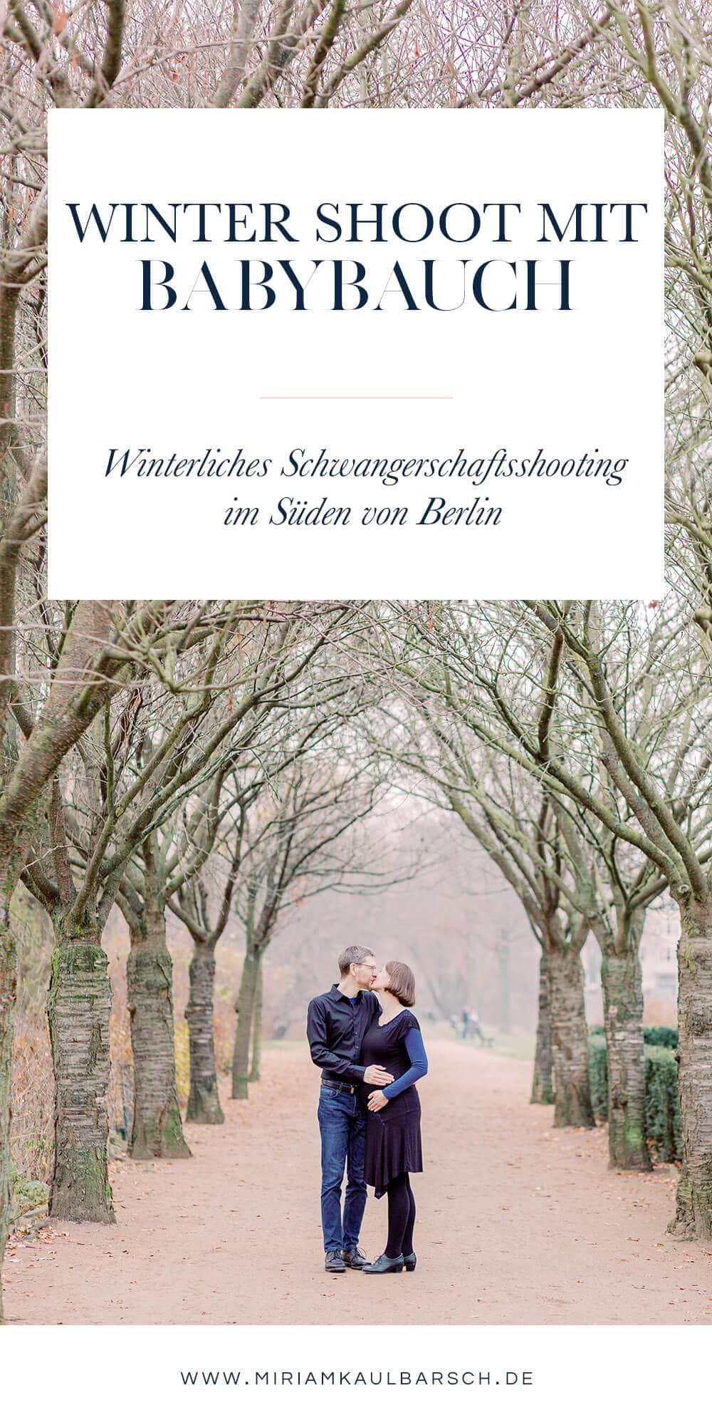 Winterliches Schwangerschaftsshooting im Süden von Berlin