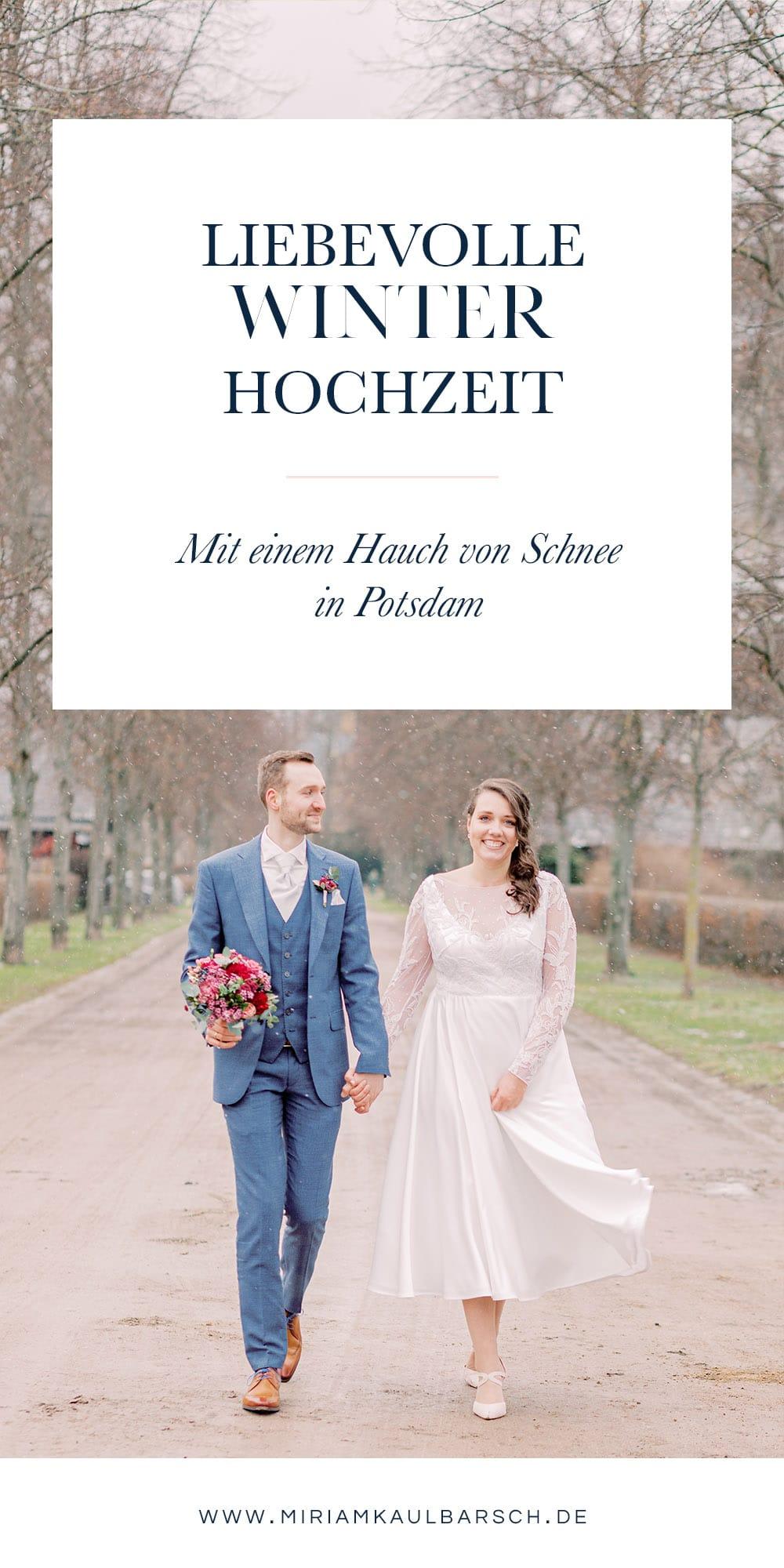 Eine liebevolle Winter Hochzeit mit einem Hauch von Schnee in Potsdam