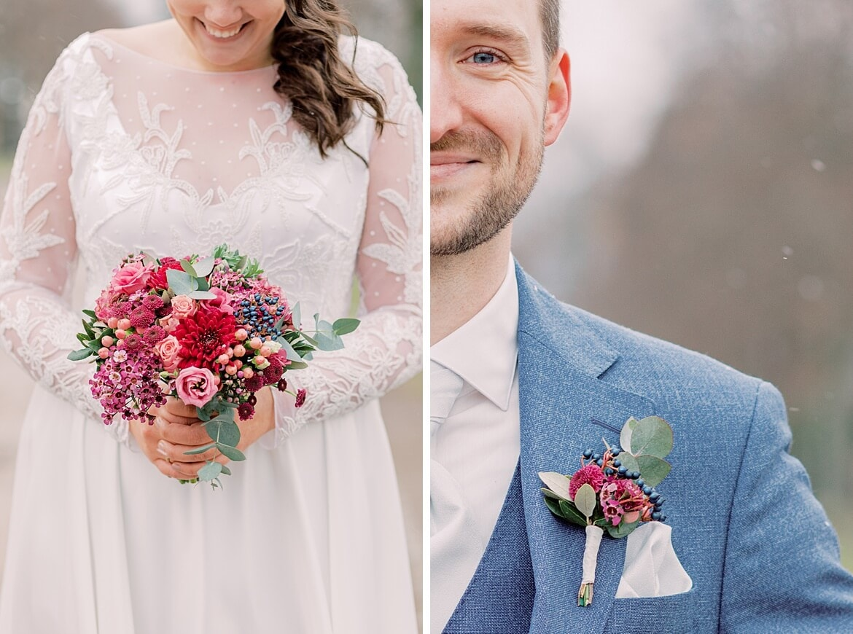 Details eines Brautpaares