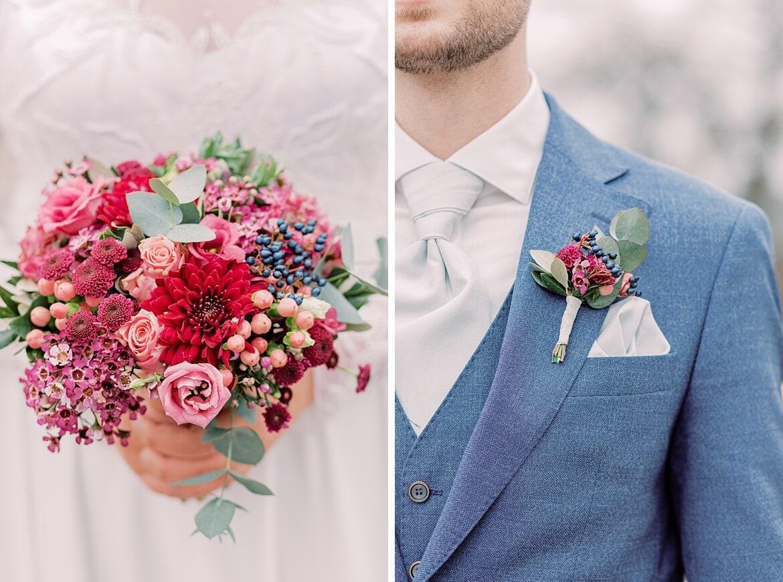 Details einer Braut und eines Bräutigams