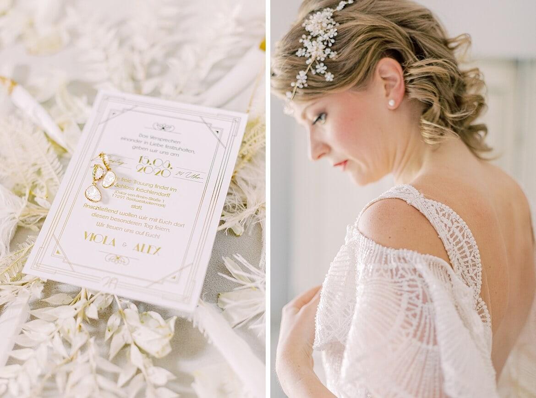 Einladung und Braut