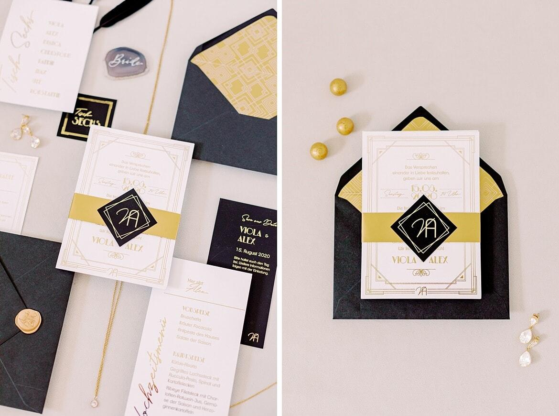 Flatlay Hochzeitseinladung