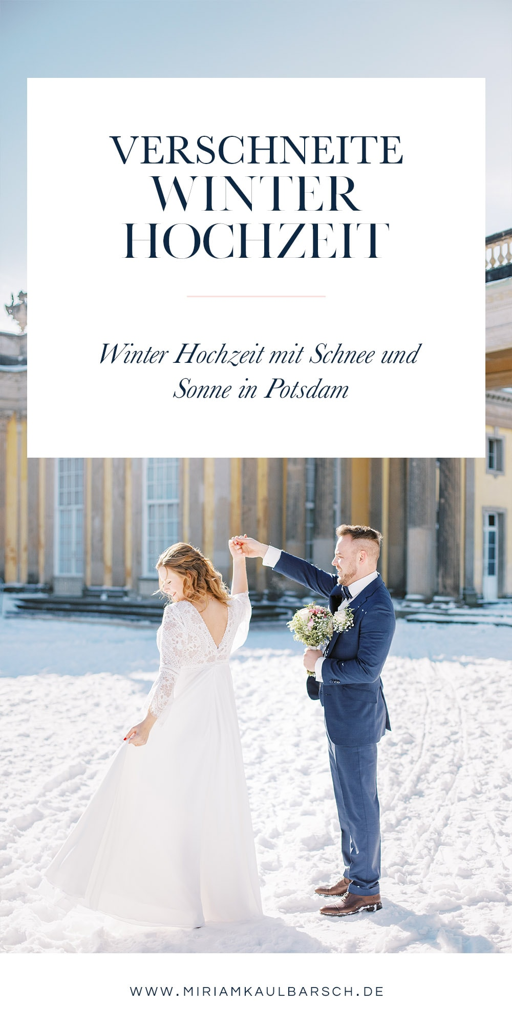 Verschneite Winter Hochzeit in Potsdam