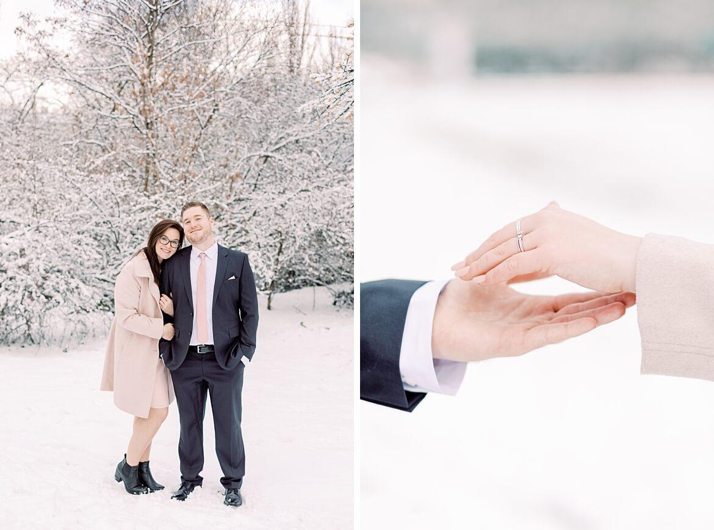 Paar im Schnee