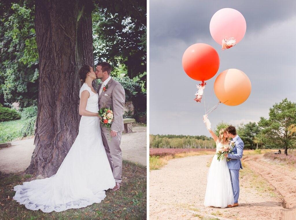 Brautpaarfotos vorher nachher