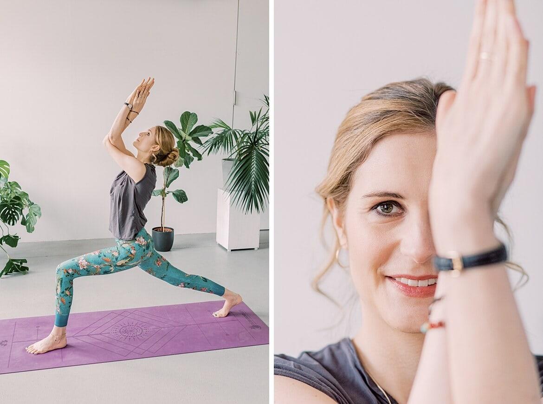 Johanna in Yoga Posen