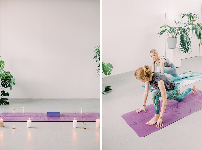 Yoga auf der Yogamatte