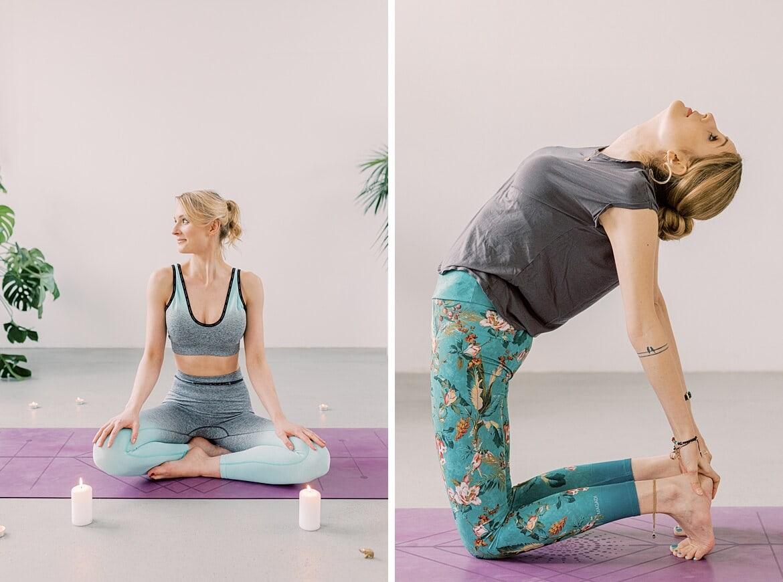 Julia und Johanna beim Yoga