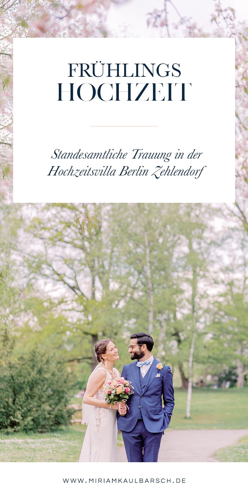 Frühlingshochzeit - Standesamtliche Trauung in der Hochzeitsvilla Berlin Zehlendorf