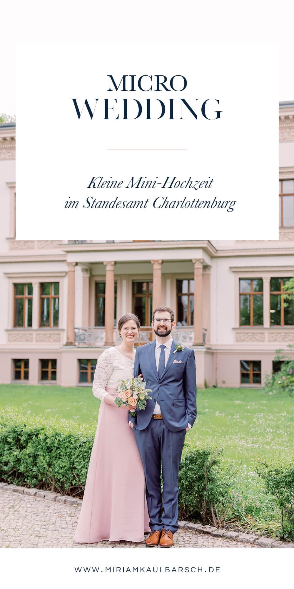 Micro Wedding in Berlin Charlottenburg - Standesamtliche Trauung mit Miriam Kaulbarsch Fotografie