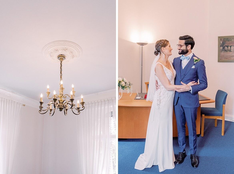 Brautpaar schaut sich verliebt an in der Hochzeitsvilla Berlin Zehlendorf