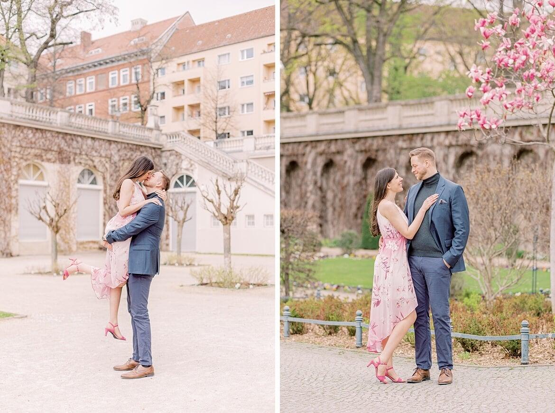 Verliebtes Paar im Park