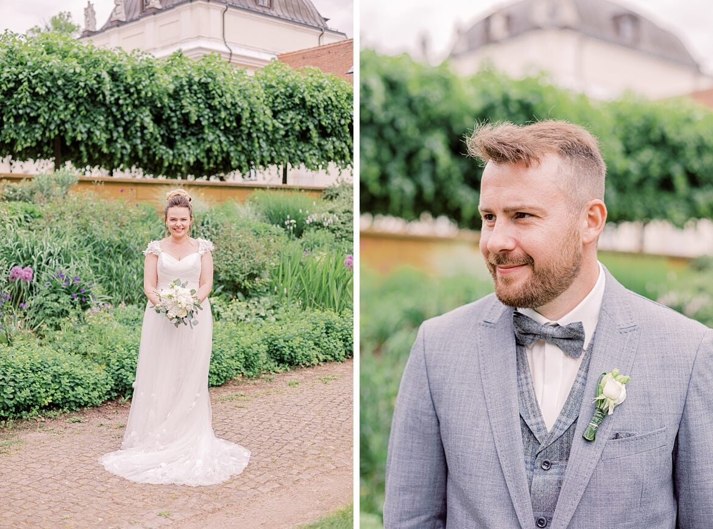 Braut und Bräutigam im Schlosspark Köpenick
