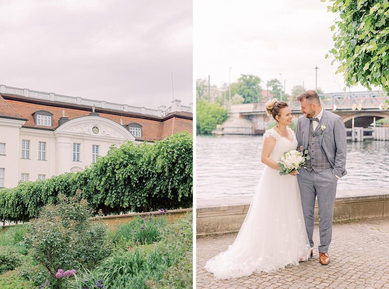 Brautpaar beim Schloss Köpenick