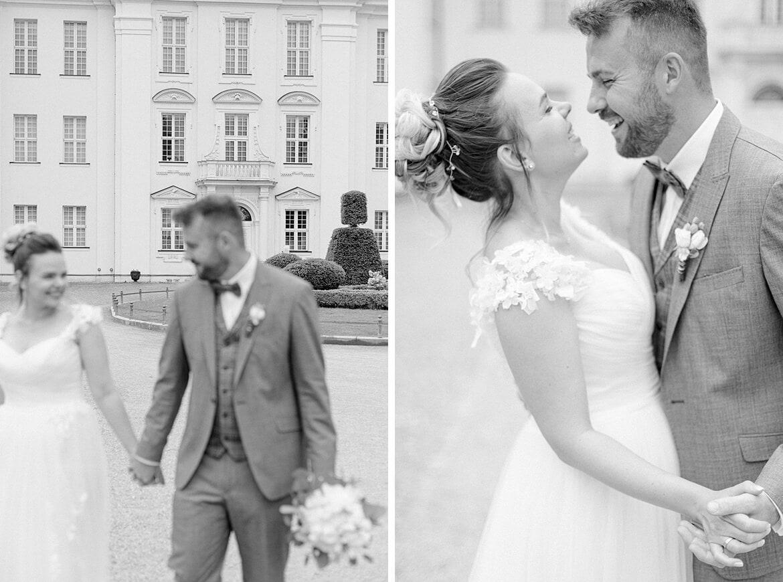 Brautpaar vor dem Schloss Köpenick