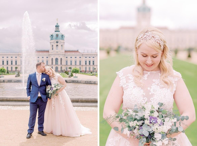 Hochzeitspaar vor dem Schloss Charlottenburg Berlin