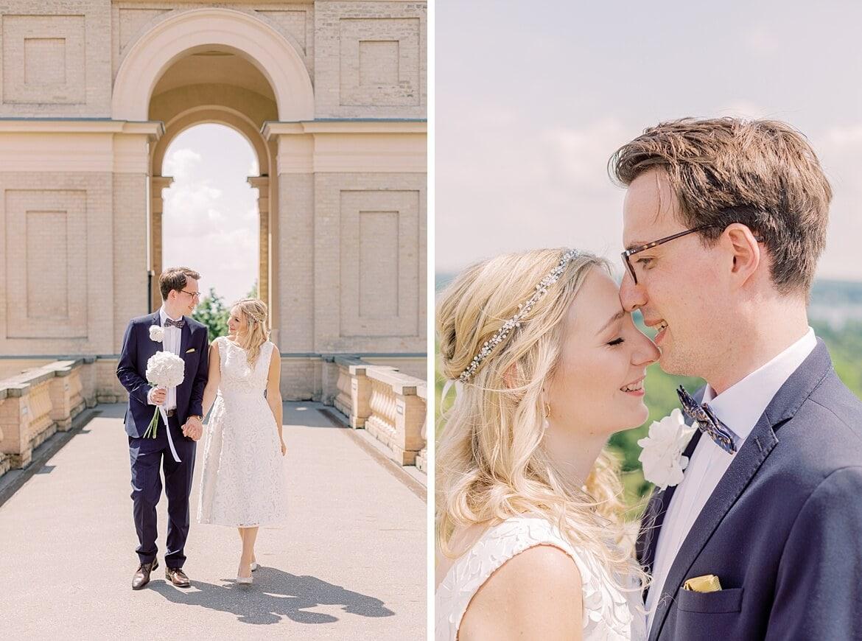 Brautpaar auf dem Belvedere Pfingstberg