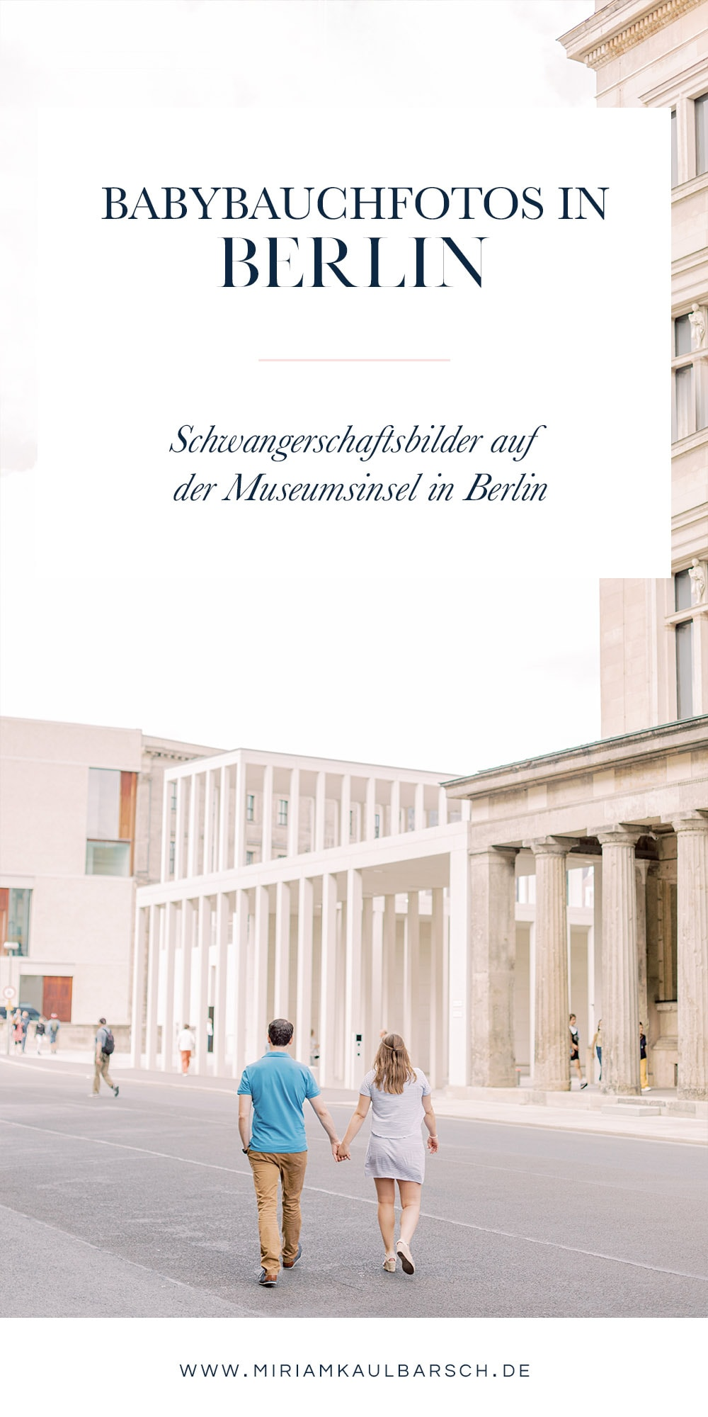 Babybauchfotos auf der Museumsinsel in Berlin