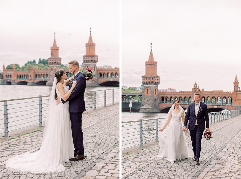 Brautpaar beim Spreespeicher an der Oberbaumbrücke Berlin