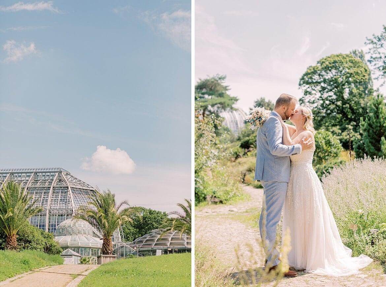 Paar im Botanischen Garten