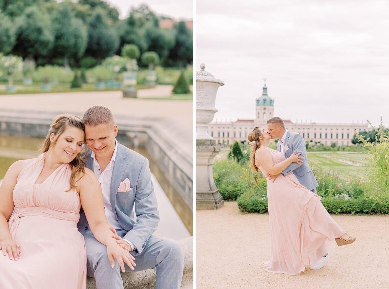 Verlobungsfotos im Park vom Schloss Charlottenburg Berlin