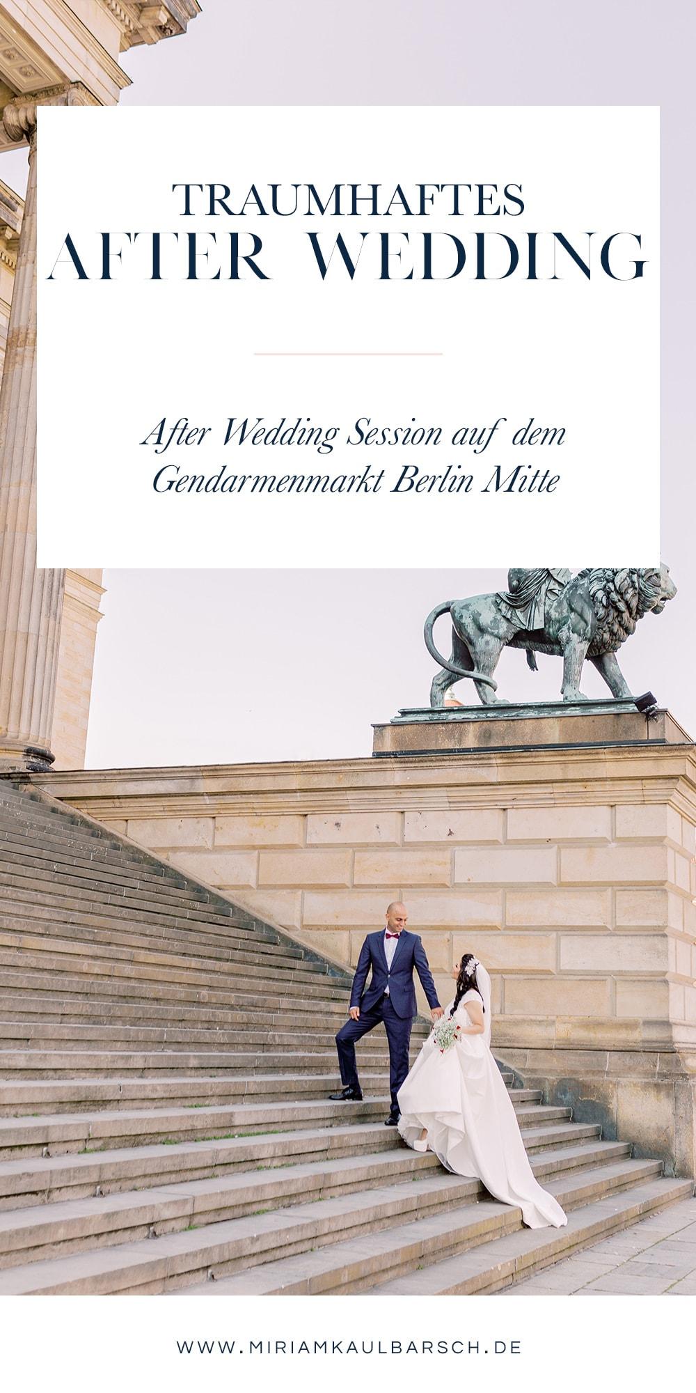 After Wedding Session auf dem Gendarmenmarkt in Berlin Mitte mit Hochzeitsfotograf Miriam Kaulbarsch
