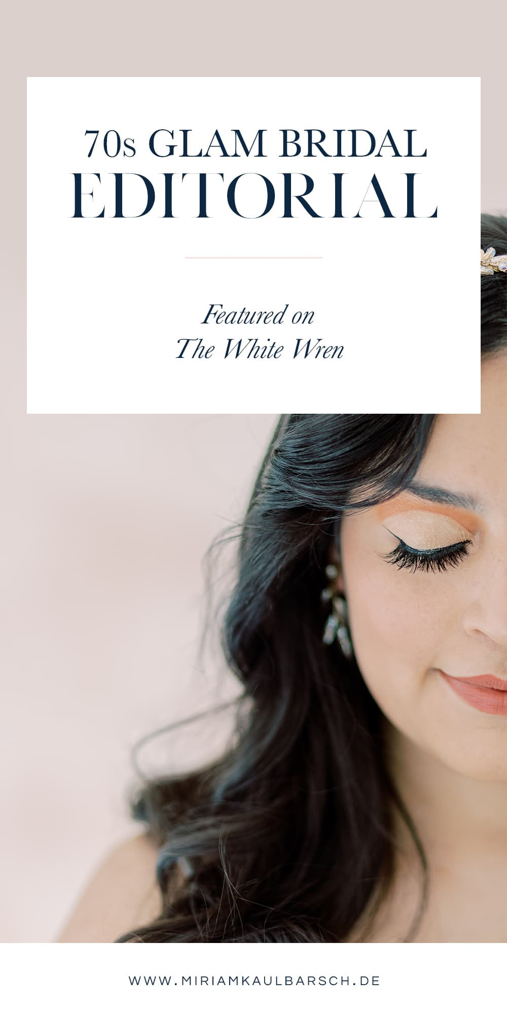 70s Glam Bridal Editorial - Featured on The White Wren