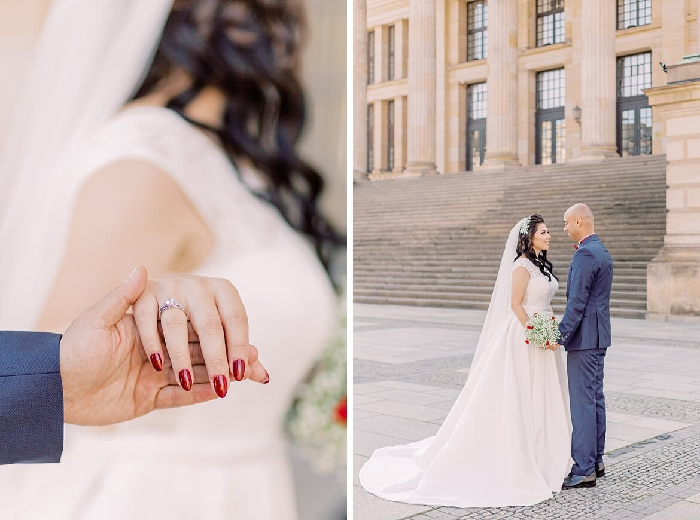 Brautpaar auf dem Gendarmenmarkt in Berlin